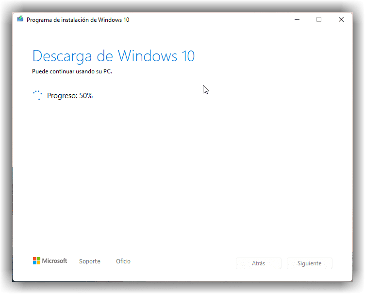 Descargar imagen ISO de Windows 10