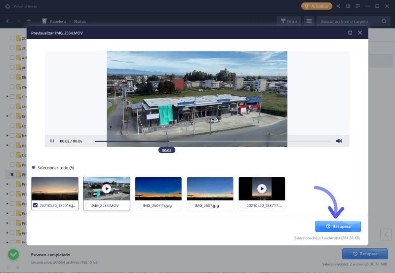 Recuperar fotos y videos de Windows PC